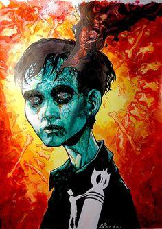 "Devil's Backbone - Carlos D'Anda - ''Santi'' ---- Gallery 1988 presents: ""Guillermo Del Toro: In Service Of Monsters"" (2015-09)"