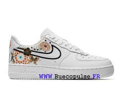 reputable site 9e9eb 3d644 Nouveau Nike Air Force 1 Chaussures classiques Pas Cher Pour Femme Enfant  Blanc Noir AJ8298