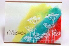 Emboss Resist Watercolor