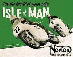 Vintage Isle of Man TT Posters