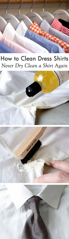 Break up with your dry cleaner! Learn how to launder dress shirts at home including stain removal tips for collars and cuffs and tips for ironing out the most stubborn of creases.