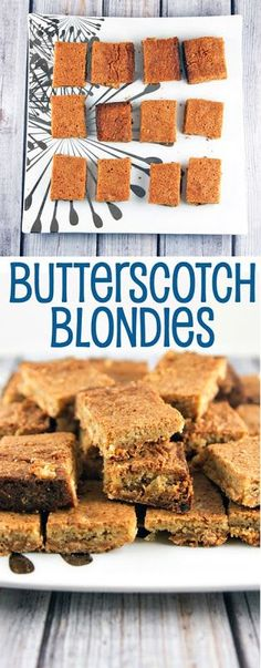 Butterscotch Blondies: time to shake up your brownie routine. {Bunsen Burner Bakery}