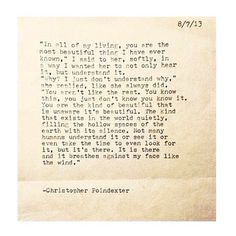The Universe and Her and I #84 written by Christopher Poindexter