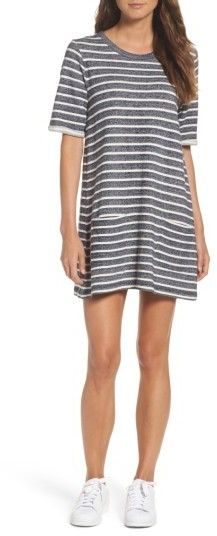French Connection Normandy Stripe T-Shirt Dress