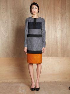 Panelled Dress by Jil Sander #Dress #Jil_Sander