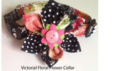Victorian Floral Flower Collar for Female Dogs and Cats by UppityPuppitys on Etsy
