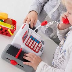 Toy Cash Register with Sound and Accessories