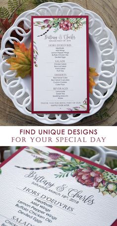 Tropical Dinner Menu fantastic i the tropical colors that makes me remember the spring and that hot summer days. Rustic Wedding Stationery, Laser Cut Wedding Invitations, Watercolor Wedding Invitations, Invites, What Is For Dinner, Wedding Draping, Wedding Dinner Menu, Beach Wedding Inspiration, Tropical Colors