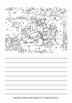 Family picnic story paper