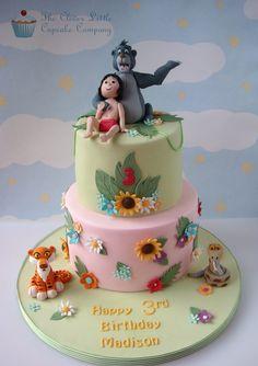 The Jungle Book cake Disney Theme Cupcakes, Book Cupcakes, Themed Cupcakes, Cupcake Cakes, Disney Cakes, The Jungle Book, Jungle Cake, Jungle Theme, Jungle Party