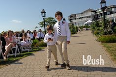 ringbearers SEE MORE PICS => blog.fpmaine.com #weddings #maine Blush Imagery Maine #fpmaine