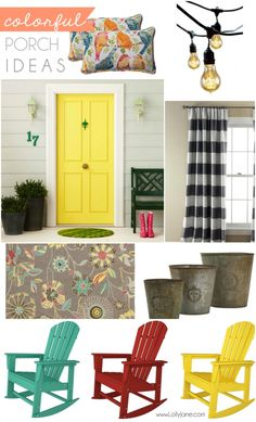 Ways to keep your porch colorful this summer! via @LollyJaneBlog