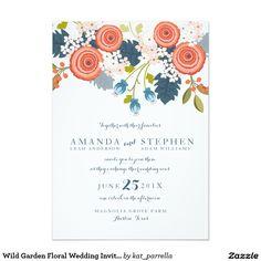 Wild Garden Floral Wedding Invitation