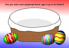 A set of printable playdough mats linked to Easter. Children make Easter eggs, crosses for the buns, ears for the bunny and more. Playdough Activities, Preschool Games, Easter Activities, Spring Activities, Toddler Activities, Playdough Diy, Preschool Teachers, Educational Activities, Making Easter Eggs