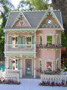 "The Princess Anne--love the window boxes!  Sis has a base model very similar to this one and I can't wait to start purdying it up!  Probably NoT quite this ornate but definitely she will be a ""painted lady""!  Hopefully for Christmas display?!"