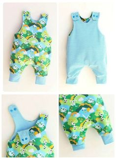 This baby clothes sewing pattern covers from newborn to age 6 years and is suitable even for beginner sewers. It's an easy pattern with all the seams hidden inside, no serger required. Sewing Baby Clothes, Baby Clothes Patterns, Clothing Patterns, Boy Baby Clothes, Onesie Pattern, Baby Pants Pattern, Baby Romper Pattern Free, Boys Sewing Patterns, Kids Patterns