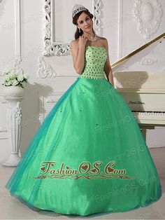 Sweet Spring Green Quinceanera Dress