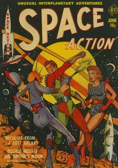 Comic Book Cover For Space Action #1 -  Date: Jun 1952