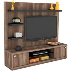 Foto 1 - Rack com Painel Wood Tamburato Terrano/Preto - Orb Tv Cabinet Design, Tv Wall Design, Bed Design, Tv Unit Decor, Tv Wall Decor, Room Decor, Wall Unit Designs, Living Room Tv Unit Designs, Lcd Panel Design