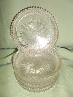 Vintage Glass Coasters Set of Four by InezNOlivia430RdVntg on Etsy, $12.00