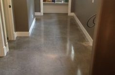 Polished concrete floor by Dancer Concrete Design of Fort Wayne, Indiana