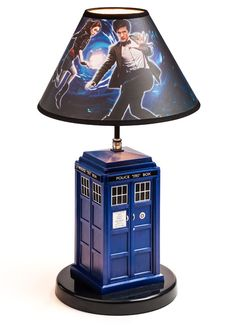 ThinkGeek :: Doctor Who TARDIS Table Lamp -- Lin could do her whole room as a big Tardis.