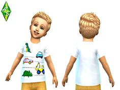 Sims 4 CC's - The Best: NEXT white cute t-shirt for toddlers by Atomic Sim...
