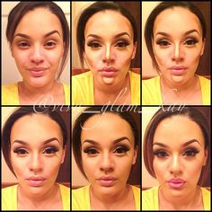 # Pictorial on how I contour. Product details are listed on my previous post (contouring video) #vivaglamkay