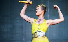 Download wallpapers Katy Perry, 2018, american singer, concert, Hollywood, superstars, blonde