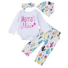 6f252986efad GBSELL Newborn Infant Baby Boy Girls Letter Outfits Clothes Set Fall Winter  (White