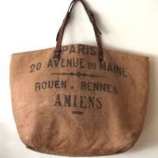 Bags made using vintage fabrics from Le Grand Cerf in France.