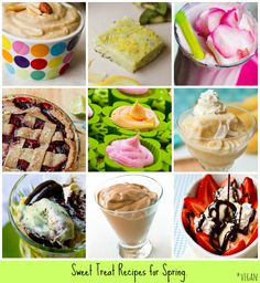 28 sweet spring treat recipes #vegan #desserts