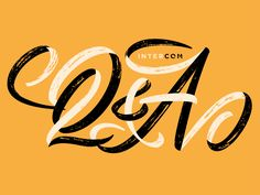 Lettering illustration for Intercom's Q&A blog.