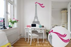 FREE SHIPPING  Eiffel tower Wall Decal  Eiffel by awesomeDecals, $45.00