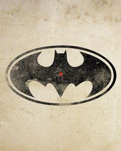 Batman: Art Print, With Heart Studios - Gift, Poster, Vintage, DC Comics Batman Vs, Batman Logo, Batman The Dark Knight, Batman Robin, Nightwing, Batgirl, Nananana Batman, Batman Universe, Arte Pop
