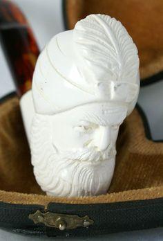 Genuine Meerschaum Pipe Vintage Man Turban by UdderlyGoodStuff