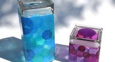 Customize peças em sua casa fazendo artesanato com papel de seda e vidro. Escolha cores ou estampas