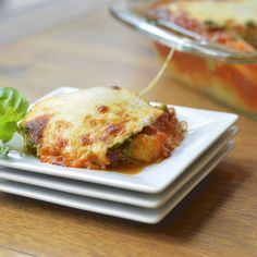 Spaghetti Squash Lasagna with Basil Walnut Pesto | Virtually Homemade