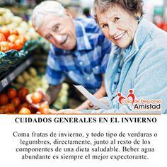 Cuida la salud de tus #AdultosMayores en este frío, asegúrate que lleven una dieta adecuada a sus necesidades.
