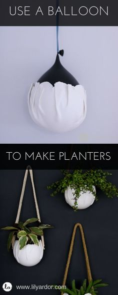 Wrap clay around a balloon to make wall pots!