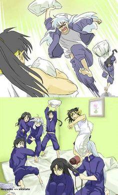Hahahaha! Sesshomaru giving Naraku a blow out! Inuyasha's face!! Ahahahahah! This is awesome!