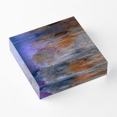 'Colorful Coast' Acrylic Block by Faye Anastasopoulou Purple Living Room Furniture, Decorative Throw Pillows, Decorative Items, Home Office Accessories, Theme Pictures, Colourful Living Room, Fancy Houses, Home Decor Items, Art Boards