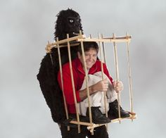 Just remember to stay calm! This Gorilla Costume will have your friends and family crying with laughter! This works with your bottom half inside the...