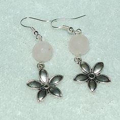 Rose Quartz and Flower Earrings - Gayle Dawn Boutique