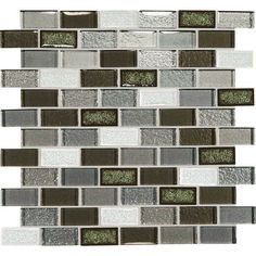 Bonus Room Backsplash - DalTile Crystal Shores, Emerald Isle 1x2