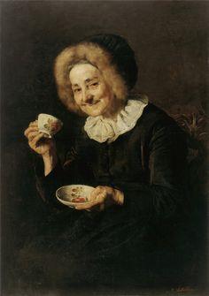 """ Ivana Kobilca: Kofetarica (Coffee Drinker) from National Gallery of Slovenia. Coffee Humor, Coffee Quotes, Funny Coffee, I Love Coffee, Coffee Break, Coffee Talk, Morning Coffee, Coffee Shop, Nadir Afonso"