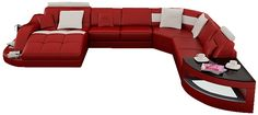 RJ Large Leather Sectional