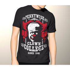 STEVEN King IT Horror movie PENNYWISE CLOWN College S - 5XL
