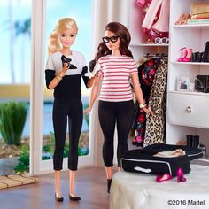 """""""Packing is more fun with friends! Excited to head to New York tomorrow. ✈️ #barbie #barbiestyle"""""""