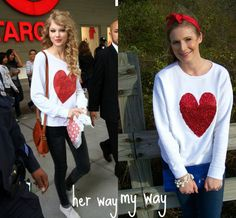 This is my favorite DIY yet -- a Wildfox Couture inspired heart jumper!